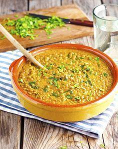 (Vegan) Easy Coconut Green Curry Lentils