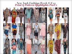 Catwalk Print & Pattern Trend Report Spring/Summer 2014 PDF Download catwalks