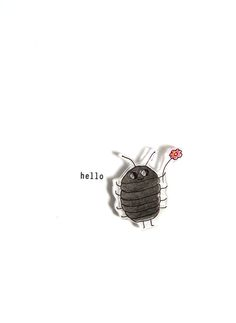 hello - winnie woodlouse - handmade card