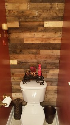 Another beautiful bathroom wall accent using reclaimed pallet wood. By Cowboy Jeff of Kennesaw, Ga Custom Wood Furniture, Reclaimed Wood Furniture, Pallet Wood, Wood Pallets, Bath Ideas, Beautiful Bathrooms, Bathroom Wall, Four Square, Master Bedroom