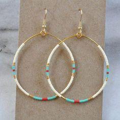 Plastic Earrings, Seed Bead Earrings, Beaded Earrings, Earrings Handmade, Beaded Jewelry, Handmade Jewelry, Beaded Bracelets, Hoop Earrings, Diy Earrings Beads