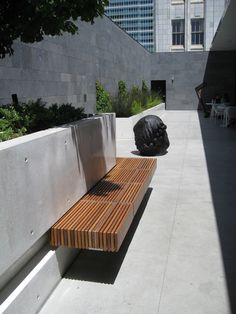 More Floating Benched On White Rendered Walls Outdoors