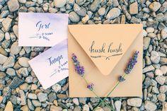 Wedding in Tuscany, Italy. Wedding stationary rustic lavender. Свадьба для двоих в Тоскане, Италия, Организация свадьбы в Италии - Caramel Events