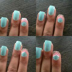 Mani Monday:: Mint Chevron nails
