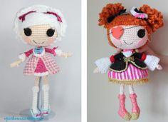 Amigurumi Doll Lalaloopsy Pattern : Schema lalalupsi bambola lavorata a maglia dolls