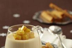 Recette de Panna cotta au foie gras, pommes caramélisées et mouillettes de pain d'épice facile et rapide