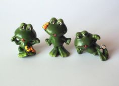 Three Cute Narcoware Frog Figurines Japan by PoorLittleRobin, $8.00