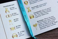 Eine tolle Idee für die Einladungskarte: Gliedert den Text für die Hochzeitseinladung mit passenden Icons und eure Gäste haben alle Infos im Überblick. | Tipps | Ideen | Textbeispiele