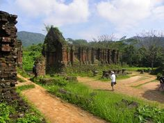 The beautiful old town of Hoi An and the My Son temple ruins, barely reclaimed from the jungle, make for two interesting places to visit! My Son Temple, Temple Ruins, Solo Travel, Travel Plan, Hoi An, Where To Go, Old Town, Travel Guides, Adventure Travel