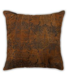 Look at this #zulilyfind! Snake Suede Throw Pillow #zulilyfinds