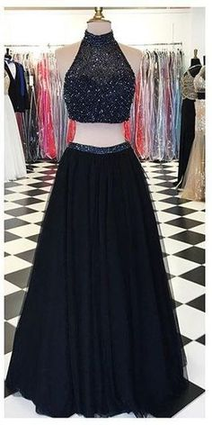2016 New Design Charming Formal Long Two Pieces Black Halter Prom Dresses, Prom Gowns,Modest Evening Dresses,Open Back Party Dresses, Charming Prom Dress http://www.luulla.com/product/571476/2016-new-design-long-two-pieces-black-halter-prom-dresses-prom-gowns-modest-evening-dresses-open-back-party-dresses-charming-prom-dress