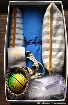 Great ideas for making bags for personal care, school items, etc.  OCC Box The Prudent Homemaker