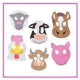 Kids farm party game ideas - animal masks