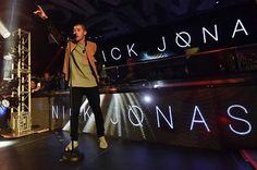 Nick Jonas performs at Foxtail Nightclub at SLS Las Vegas during a New Year's Eve celebration on January 1, 2016 in Las Vegas, Nevada.