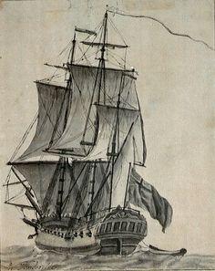 Willem van de Velde. A sloop. National Maritime Museum
