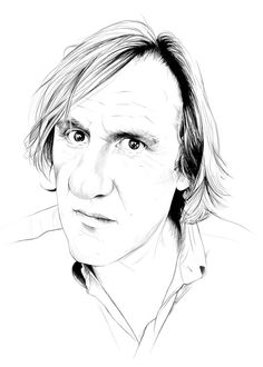 Gerard Depardieu by Caroline - more on http://tight-sweater.blogspot.com/