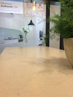 Silestone Coral Clay Suede @ Batibouw Brussels stand Cosentino by Louis Culot Keukenwerkbladen