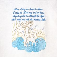 Bedtime Prayer  5x7  A sweet and simple bedtime prayer for children. A good night kiss and off to sleep while angels keep you in their care!  Beautiful for the nursery or a child's room ~ a perfect baby shower gift!   $4.00