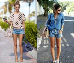 Luv May / Blog de moda para estilosas Shorts Jeans, Ideias Fashion, Short Dresses, Blog, Women, Low Cut Dresses, Short Gowns, Mini Dresses, Skater Skirts