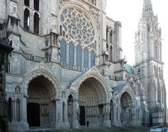 Chartres, North Porch, Cathedral of Notre Dame de Chartres, c.1145 and 1194-c.1220, Chartres (France)