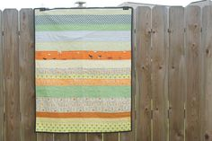 a quilt is nice: 2013 sweet and simple little boy strip quilt. love the pieced backing and simple straight line quilting! Baby Girl Quilts, Girls Quilts, Straight Line Quilting, This Little Piggy, Strip Quilts, Baby Crafts, Crafty, Blanket, Simple