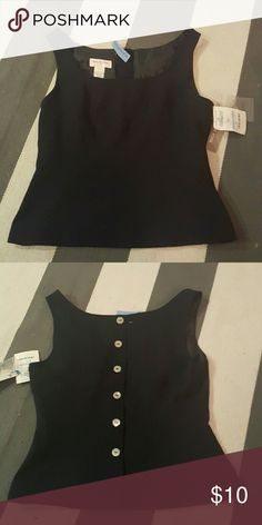 Jones New York navy tank size 10 new with tags size 10 button back tank lined Jones New York Tops Tank Tops