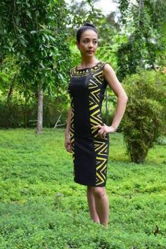 Designer: Alisa Vavataga. Model: Sarah Moore. (Solomon Islands)