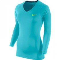 NIKE Pro Combat Core Fitted II Ladies Shirt Blue M