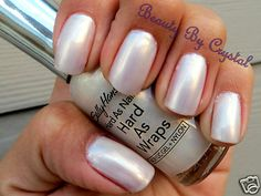Sally Hansen Hard As Nails Polish SUPER FROST PLATINUM-  It's like wearing pearls on your nail