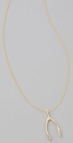 Jennifer Meyer Jewelry Wishbone Necklace