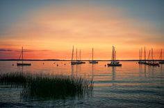 Sunset lake Garda  by Watze D. de Haan