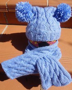 Gorro  infantil  con bufanda de niña o niño. por BolsosBags en Etsy