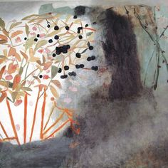 A Hedge in November' by Mary Newcomb, 1984 (oil on canvas)
