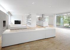 Modern Minimalist White Living Room Interior Architecture