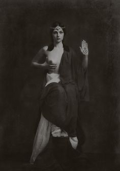 "Gwaschemasch'e Efendi - ""Priestess of the Great Mother, Protector of Mnajdra""    Icon image from 1905/1906 #occult #vintage #priestess"