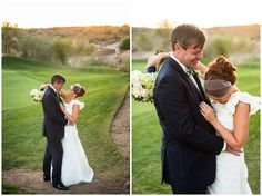 Bride and groom photos at Eagle Mountain Golf Club in Fountain Hills, Arizona.