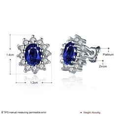 Aliexpress.com : Buy Luxury British Kate Princess Diana William Engagement Wedding 2.5ct Blue Sapphire Earrings Stud Set Solid 18k Gold Plated from Reliable gold earings suppliers on Rose Fashion Jewelry CO., LTD.