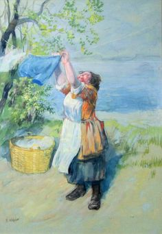 """""""Washer Woman"""" by Robert Högfeldt, Sweden (1894-1986) 