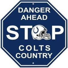 "NFL Indianapolis Colts Stop Sign by Fremont Die. $8.31. Made from durable styrene plastic.. Great decoration for any room or garage.. Dimensions: 12"" x 12"".. Officially Licensed NFL product.. High quality screen printed logos.. NFL Stop Sign"
