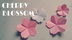 How To Make Origami Cherry Blossoms
