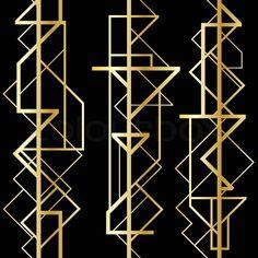 Stock vector of 'Art deco geometric pattern (1920's style)'
