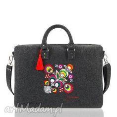 Moda Folk :: Torebki :: Torebki Farbotka :: Torby na laptopa :: Torba filcowa na laptopa Kwiat łowicki Unique Handbags, Large Handbags, Ethno Design, Russian Fashion, Russian Style, Folk Fashion, How To Make Handbags, Malm, Little Bag