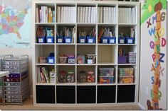 Our Schoolroom ala Ikea | Confessions of a Homeschooler