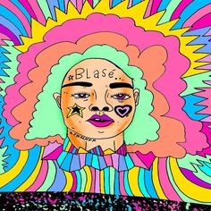 #BLASÉ x #JWALKER x #saturday #illustration #illustrator #doodleart #wallart #neon #lisafrank by jewwalker