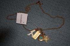 Love! ... COACH Coral & Starfish Pendant NECKLACE 94211