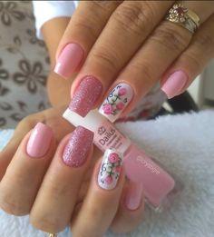 Classy Nail Designs, Pink Nail Designs, Beautiful Nail Designs, Acrylic Nail Designs, Pink Nail Art, Pink Nails, Trendy Nails, Cute Nails, Gel Uv Nails