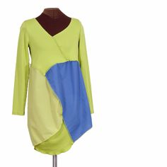 The Alien Watcher upcycled tunic - Secret Lentil Clothing