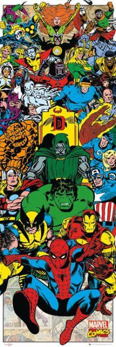 Door Wall Poster - Marvel – Characters Portrait