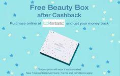 Free Beauty Box UK After Cashback
