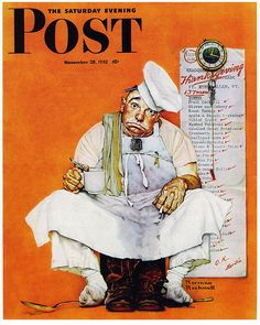'Thanksgiving Blues' by American artist Norman Rockwell <> November 28, 1942, The Saturday Evening Post, cover